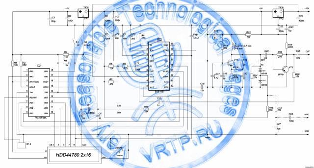 Синтезатор частоты на микроконтроллере PIC16F84A и микросхеме SAA1057