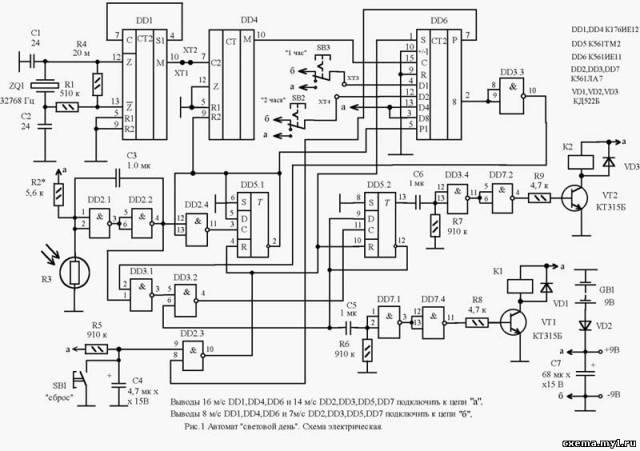 the 'электрические схемы и