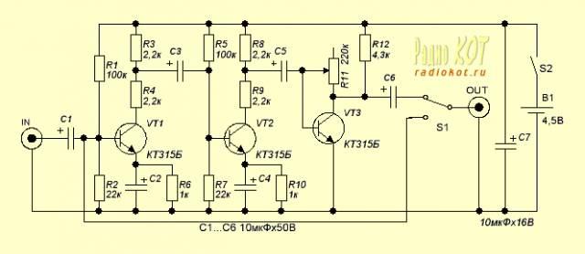Примочка Fuzz для электрогитары.