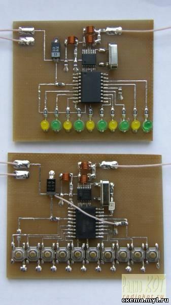 10 командное радиоуправление на MRF49XA