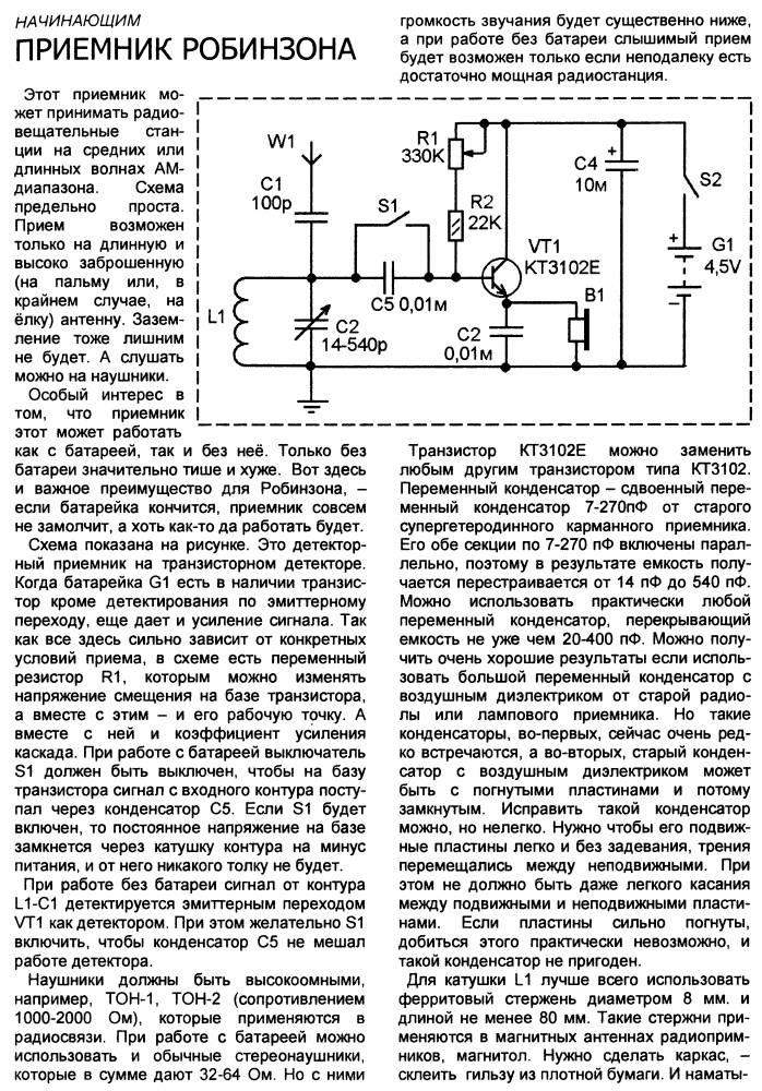 Приёмник Робинзона CVAVR AVR CodeVision cvavr.ru