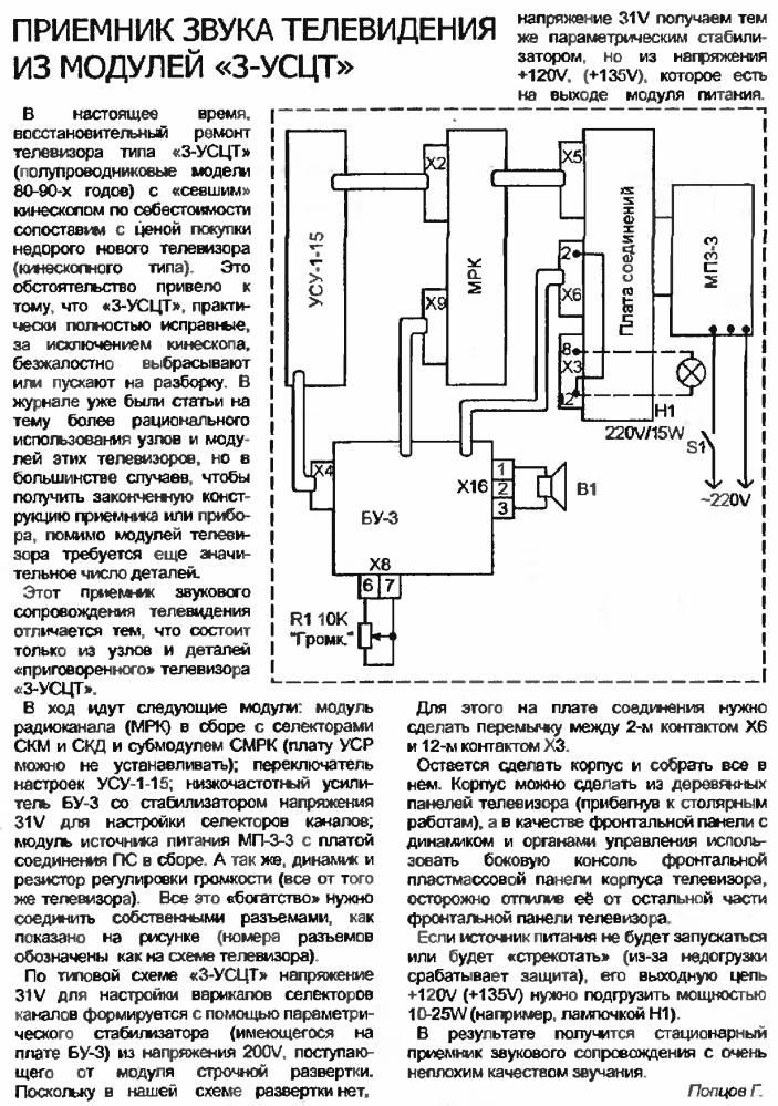 Приемник частотно модулированного сигнала на диапазон 36мгц - мгц.