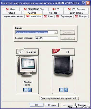 Выводим изображение с компьютера на телевизор