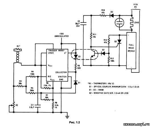 Схемы терморегуляторов