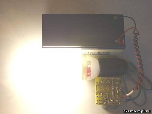 Преобразователь 12-220В для питания ЛДС из компьютерного БП.