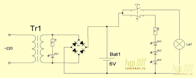 Контроллер фонаря для 6В гелеевой батареи и раздельная зарядка 4 аккумуляторов Ni-MH