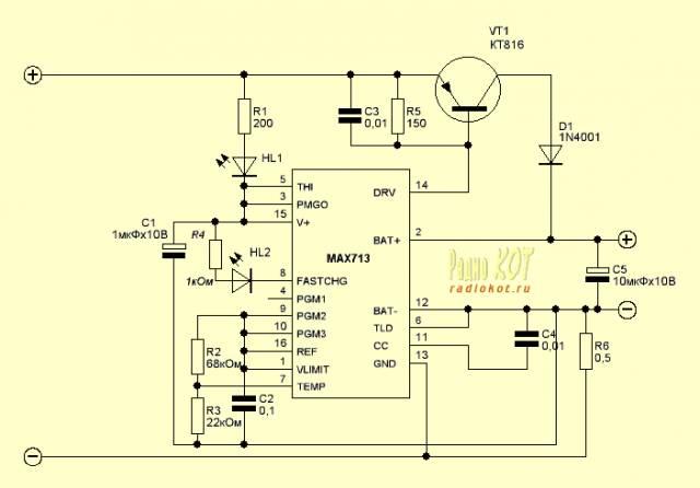 Зарядное устройство для ni-cd и ni-mh аккумуляторов. Очень простое