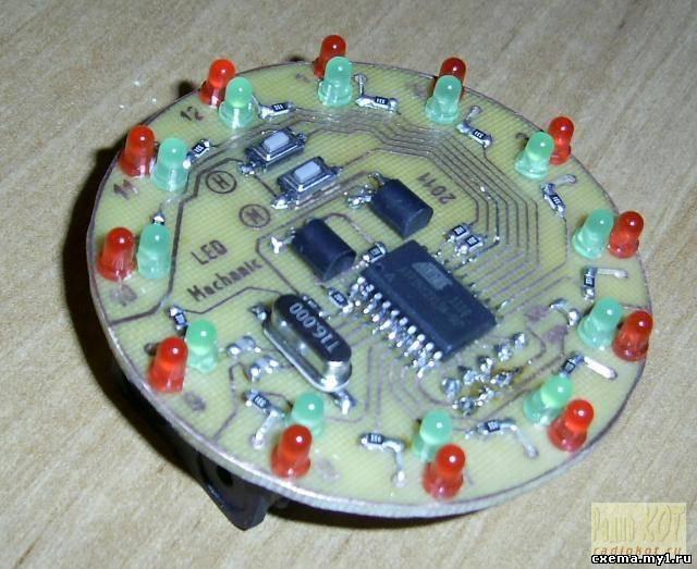 Светодиодные часы с анимацией