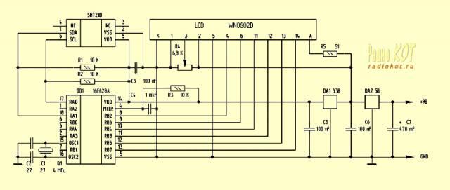 Применение датчика температуры и влажности SHT21.