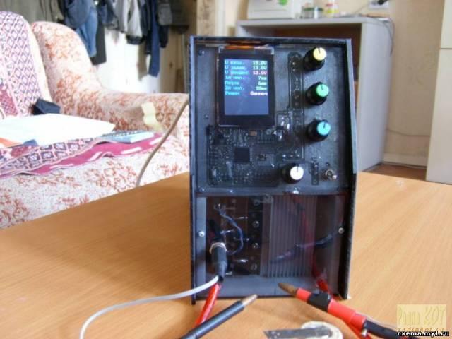 Устройство для приваривания токоведущих пластин к NiCd, NiMH, LiIon аккумуляторам