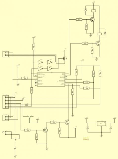 Автомобильный охранный сигнализатор на микроконтроллере c функцией обратной связи. CVAVR AVR CodeVision cvavr.ru