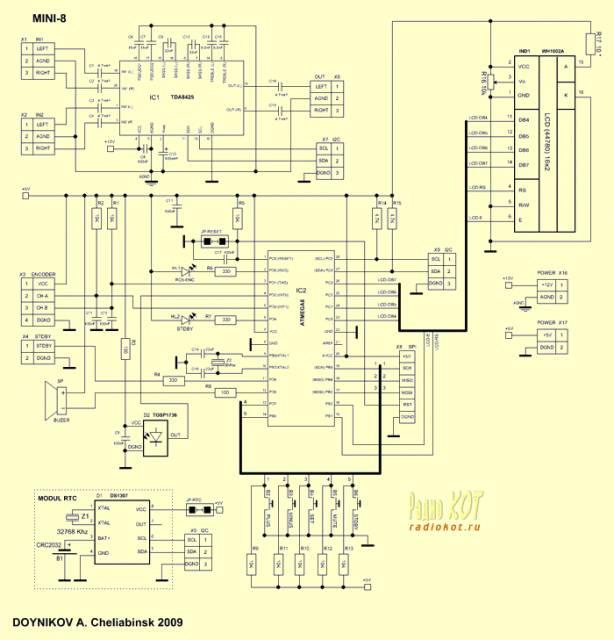 Преварительный усилитель с МК управлением (Проект МИНИ-8 и МИНИ-16).
