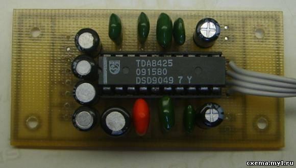 Темброблок с микроконтроллерным управлением на TDA8425.