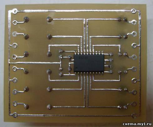 6 канальный регулятор громкости на TDA7448.