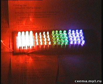 Автомат световых эффектов с музыкальной активацией.