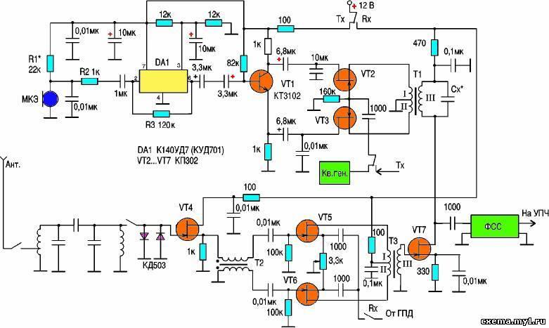 Радиостанции, трансиверы Схемы радиолюбителю - Каталог