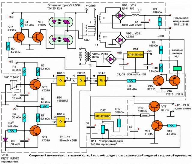 Сварочный полуавтомат в углекислотной газовой среде с автоматической подачей сварочной проволоки CVAVR CAVR AVR CodeVision cavr.ru