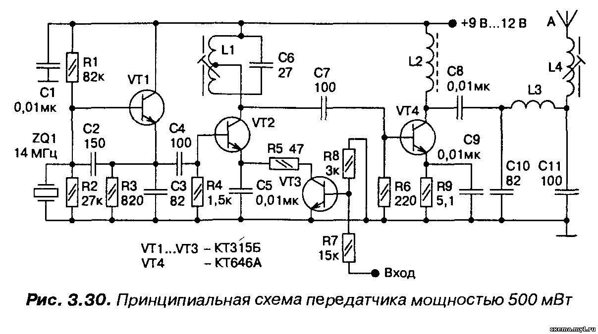схема передатчика 433 мгц на микросхеме