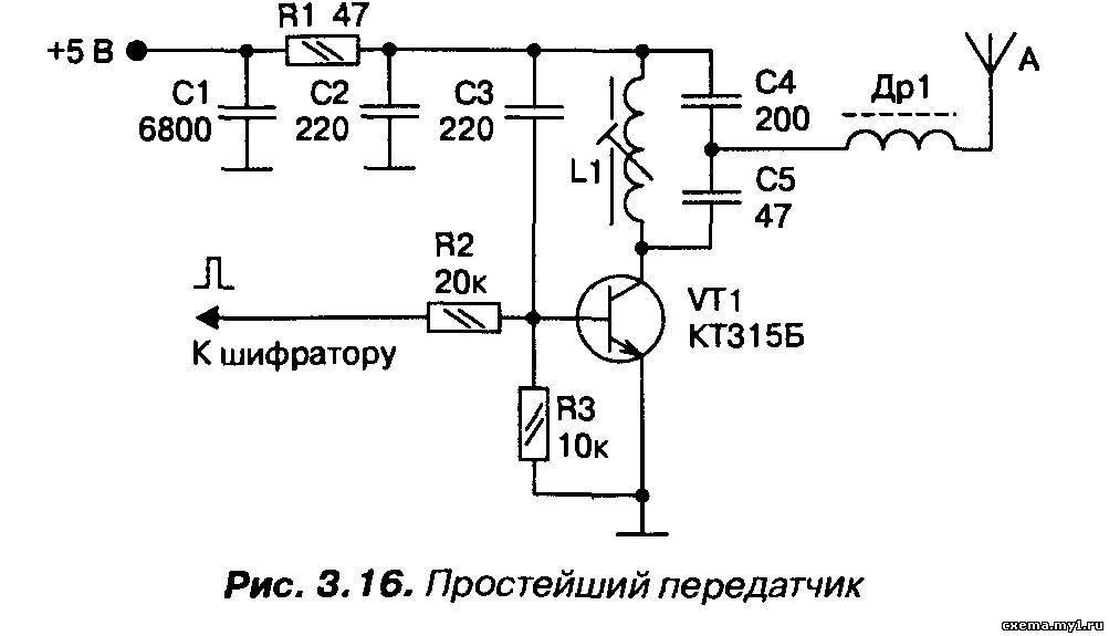 10 мвт передатчик схема 80-100 мгц: