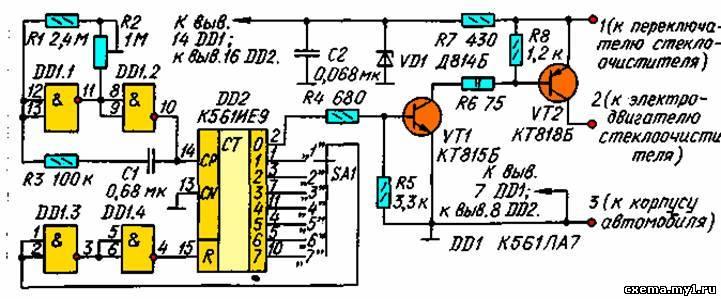 Схема узла показана на рис. 1.