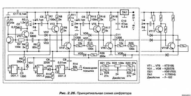 Шифратор на транзисторах со стабилизацией периода повторения