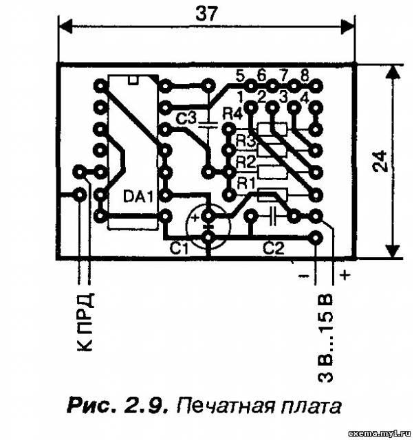 Четырехканальный шифратор с частотным кодированием на микросхеме CD4047