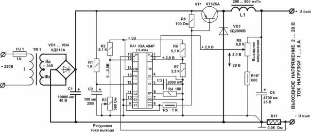 Зарядное с выходным напряжением 2-20 и током от 1 до 6А CVAVR AVR CodeVision cvavr.ru