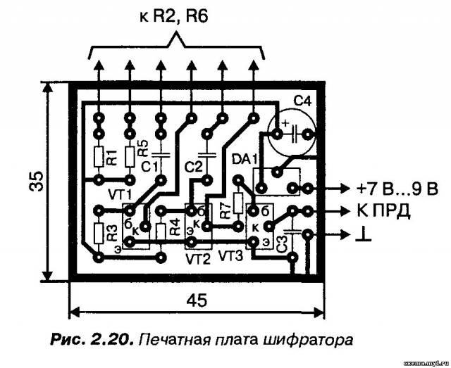 Простой шифратор на транзисторах