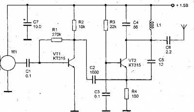 Радиопередатчик с ЧМ в диапазоне частот 100-108 МГц CVAVR AVR CodeVision cvavr.ru