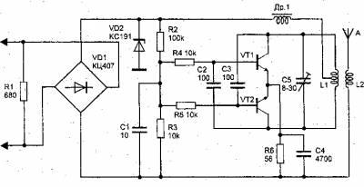 Телефонный радиоретранслятор большой мощности с ЧМ