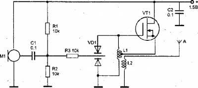 Микропередатчик с ЧМ в диапазоне чаетот 80-100 МГц