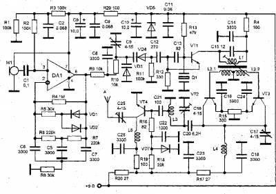Радиопередатчик с фиксированной частотой задающего генератора(мощный)