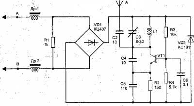 Телефонный радиоретранслятор с ЧМ на одном транзисторе