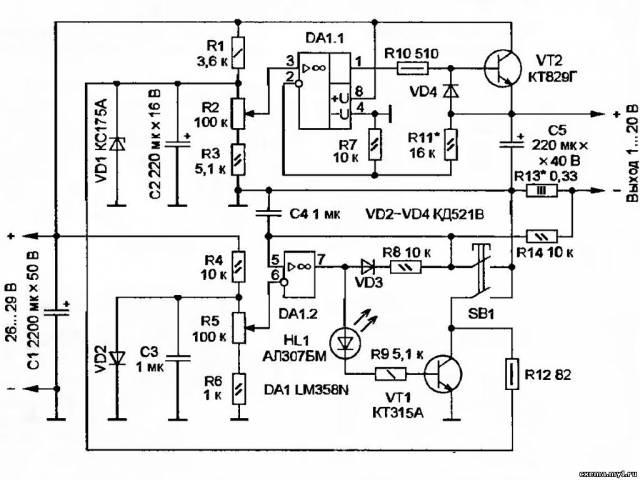 Лабораторный блок питания на lm358n CVAVR AVR CodeVision cvavr.ru