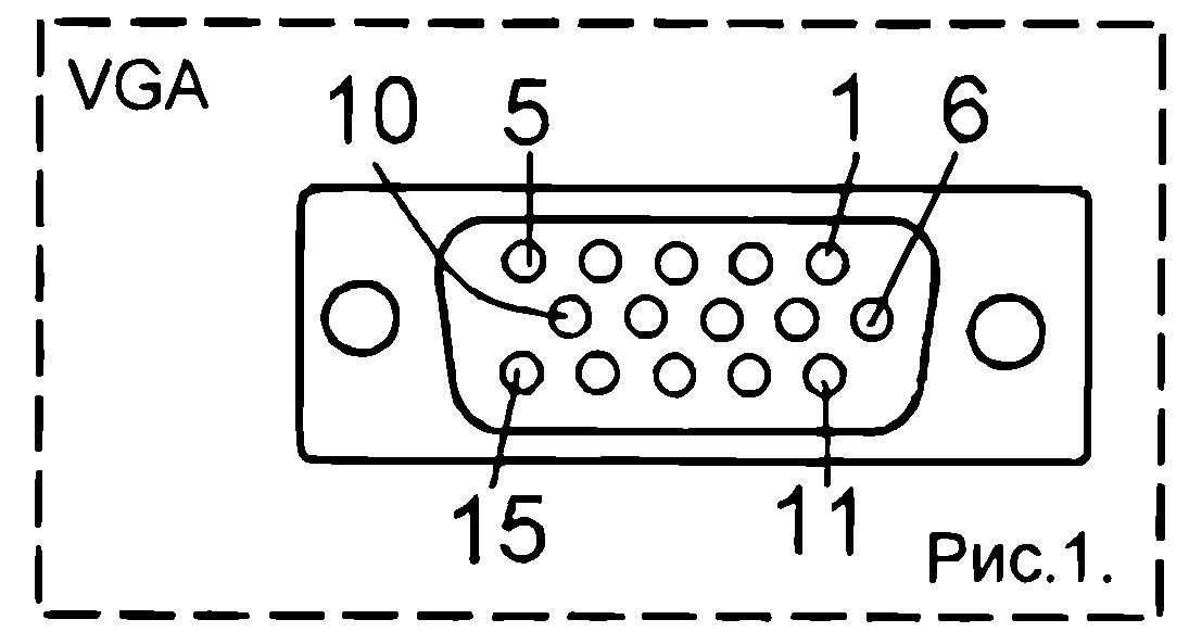 Распиновка разъема VGA- выход