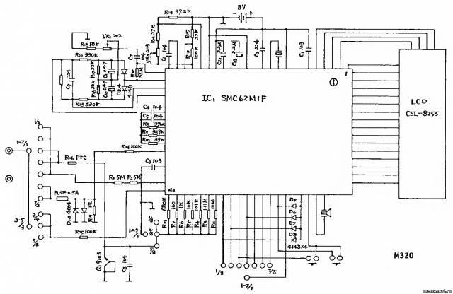 Принципиальная схема мультиметра Mastech M320