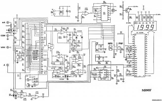 Принципиальная схема мультиметра Mastech M890F