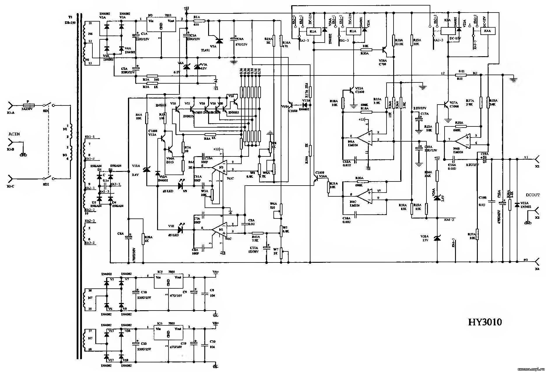 ц4352 принципиальная схема
