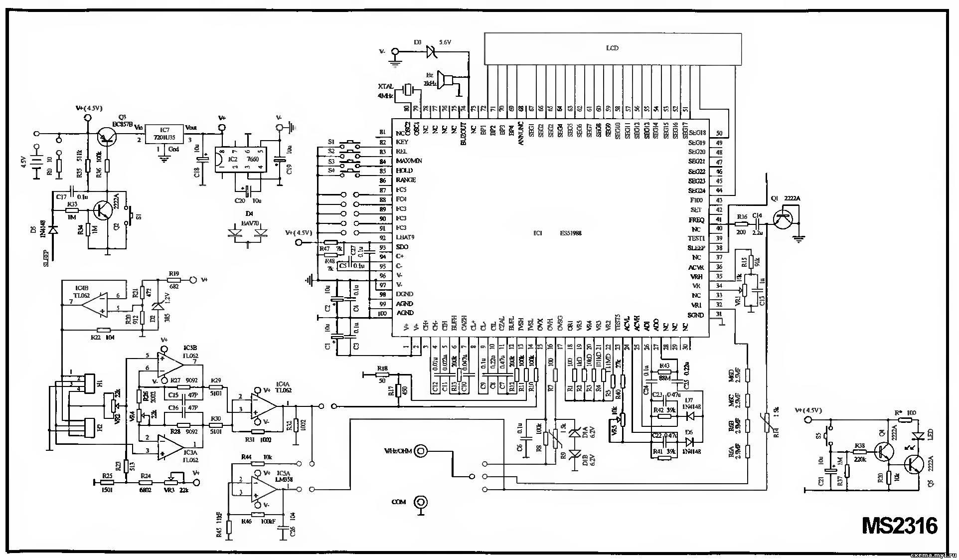 эл схема мультиметра vc890c