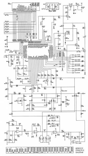 схема мультиметра mastech