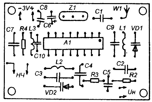 Схема приемника на та2003