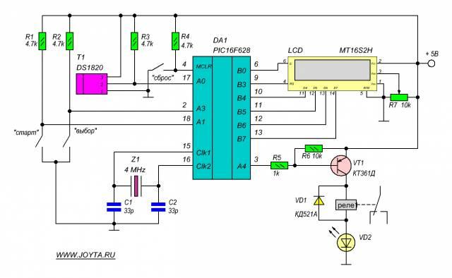 Термостат программируемый цифровой с