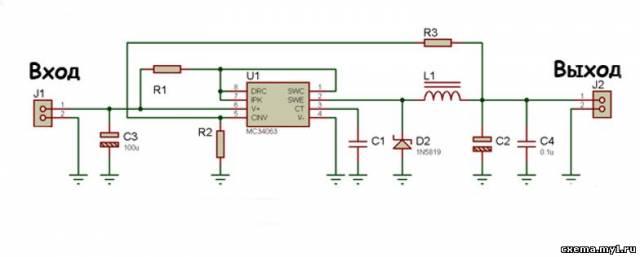 Универсальный DC-DC преобразователь на MC34063 +прграмма расчёта