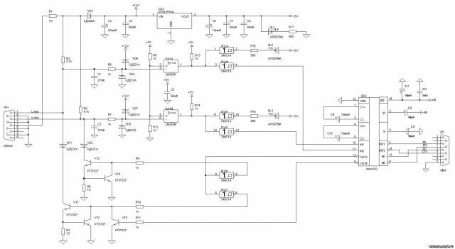 Схема кабель k line