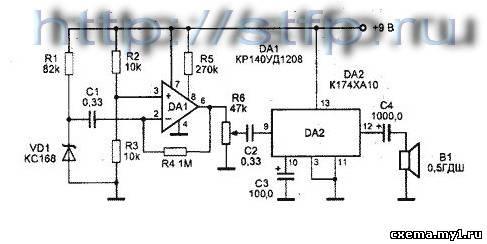 Глушилка сигналов на КР140УД1208 и К174ХА10