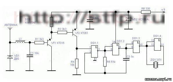 Ищем жучки: простой детектор напряженности поля CVAVR AVR CodeVision cvavr.ru