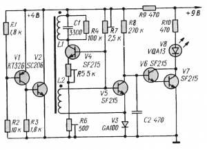 Простой транзисторный металлоискатель