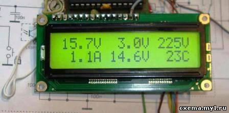 Вольтметр –Амперметр, atmegа8 – lcd. CVAVR AVR CodeVision cvavr.ru