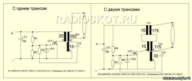 полевого транзистора (доли