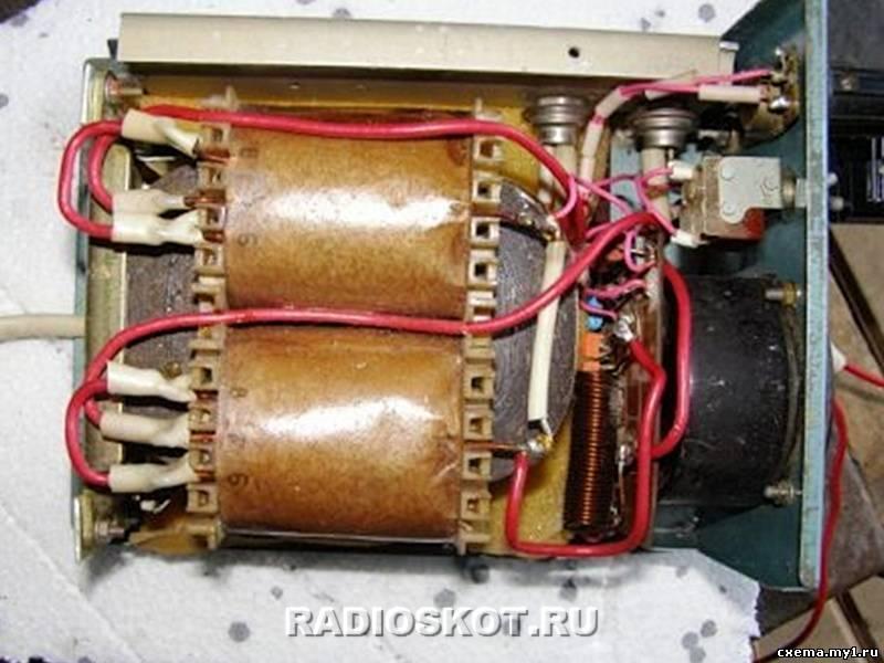 Детали самодельного зарядного устройства.